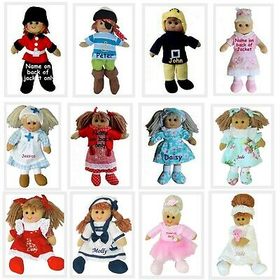 Personalised Rag Doll 19cm Miniature Birthday Christmas Bridesmaid Gifts + Name
