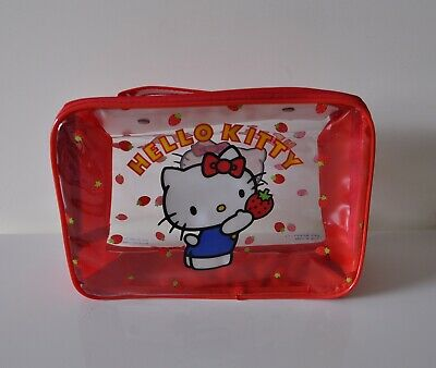 HELLO KITTY 1984 Sanrio vintage beauty case in Vinile RARO!