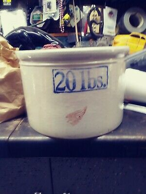 RARE Red Wing 20 lbs. (pounds/#) Stoneware Butter Crock