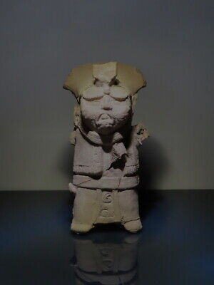Pre Columbian large Priest Whistle Figure Veracruz Mayan wTL test Report! mask