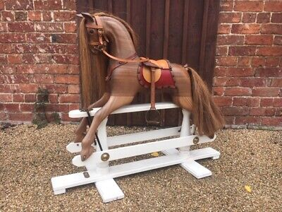 Stunning Wooden Rocking Horse By Withers Ideal For Christmas Deliver Worldwide