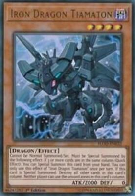 Yugioh Iron Dragon Tiamaton FLOD-EN032 Ultra Rare NM