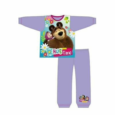 Girls Masha and the Bear Long Pyjamas Pjs Age 1-5 Years
