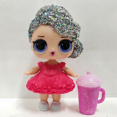 lol surprise doll Big Sister Glitter Silver Wave Hair Red Dress Kids Gift