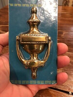 SMALL 4.75 Inch Door Knocker Solid Brass Polished Brass Finish NEW Engravable