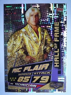 Topps Wwe Slam Attax Universe Hall Of Fame Ric Flair Card Comb Post