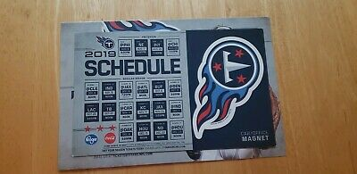 2019 Tennessee Titans  Magnet ,Car schedule New