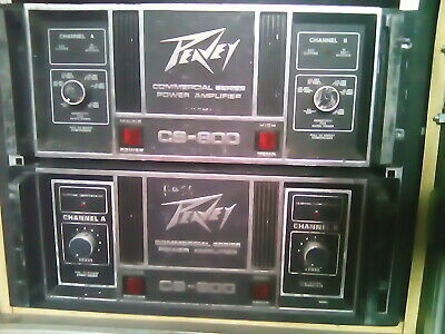 Peavey CS800 Power Amplifier - Peavey Power Amp - Classic Peavey CS-800 Vintage