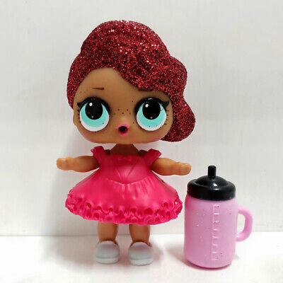 lol Surprise doll Big Sister Red Wave Hair DIY Red Dress Kids Birthday Gift