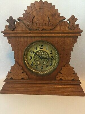 Antique E.Ingraham Kitchenette Clock,Running and Gonging,Beautiful Cabinet