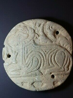 Very old neareastern sasanian chloride stone unknown relief