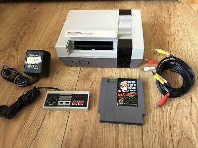 ORIGINAL NES NINTENDO ENTERTAINMENT SYSTEM CONSOLE With Mario Bros
