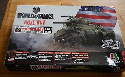 ITALERI World of Tanks  M4 Sherman 1:56 scale