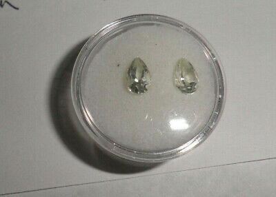 8x5mm pair Pear cut PRASIOLITE Vermarine Green Amethyst JTV Q9969