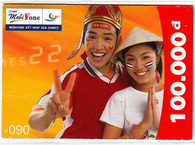Vietnam -  nice pre-paid-card - 100.000 Dong - exp.-date 31.12.2004 - as scan