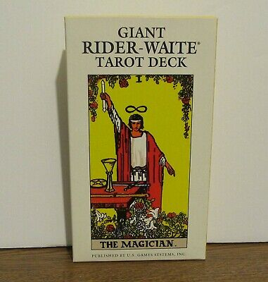 Vintage Giant Deck Of  Rider-Waite Tarot Cards  78 Cards Printed in Italy