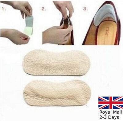 2 Pairs Soft Leather Shoe Heel Inserts Insoles Pads Cushion Grips Strong