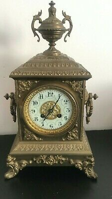 Lovely French Antique Mantel Clock Japy Freres