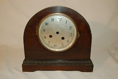 Antique Mahogany Mantle Clock Project With Case, Dial and Back Plate (CA 19)