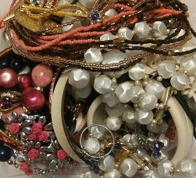 Estate Wearable Costume Jewelry Lot-Vintage to Modern 1 Lb Some Signed Items