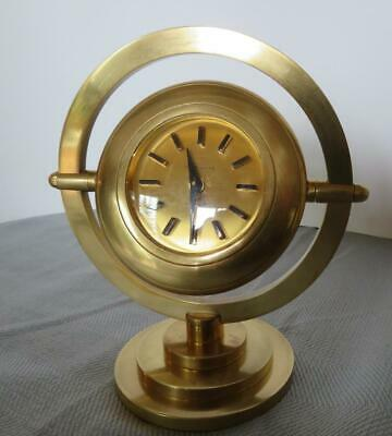 Andre Wyler 8 Day French Alarm Clock Solid Brass C. 1940'S Deco Works