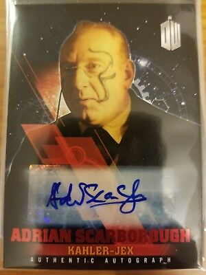 2016 Doctor Who Timeless Adrian Scarborough Kahler-Jex RED AUTO Autograph 05/10