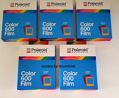 5 Packs Of Polaroid Originals 600 Film Color Frames Edition Brand New 40 Photos