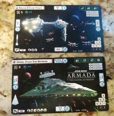 Star Wars Armada Imperial II Star Destroyer and Nebulon-B Frigate Alt Art Cards