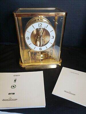 Authentic Jaeger LeCoultre Atmos 13 Jewels 540 Swiss Mantel Clock Gold tone