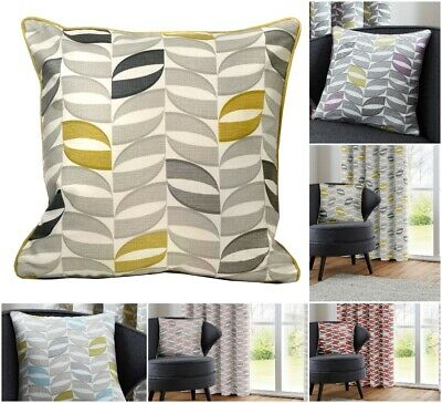 """Geometric 100% Cotton Scatter Cushion Covers  17 """" x 17"""" - Fits 18"""" Cushion Pads"""