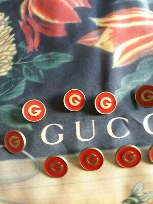❤GUCCI BUTTONS LOT OF 6 size  20 mm or 0,8  inch Metal