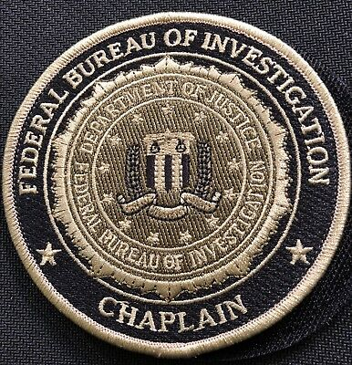 FBI - Federal Bureau of Investigation CHAPLAIN + hook OD camo patch - Very Rare