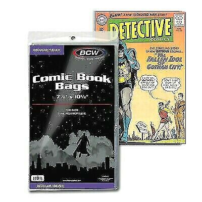 100 Bcw Silver Age Comic Book Bags Fast Free Shipping