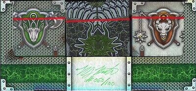 Draconian & Knights GILDED Trio Playing Cards RARE Limited Edition Deck Set EPCC