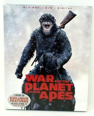 War for the Planet of the Apes (Blu-ray/DVD, 2017, 2-Disc Set) with Digital Copy
