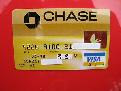 Vintage Old Credit Card: Chase Visa