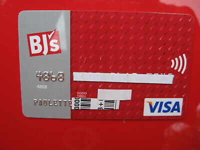 Vintage Old Credit Card: Bj's Visa