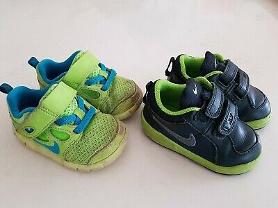 NIKE runners sneakers baby toddler boys size 4C and 5C. 2 pairs bulk