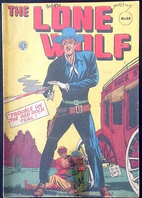 THE LONE WOLF # 28 1950's GOLDEN AGE AUSTRALIAN DRAWN  COMIC