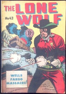 THE LONE WOLF # 43 1950's GOLDEN AGE AUSTRALIAN DRAWN  COMIC