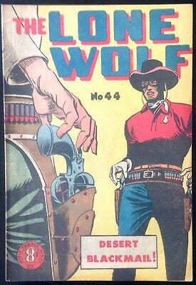 THE LONE WOLF # 44 1950's GOLDEN AGE AUSTRALIAN DRAWN  COMIC