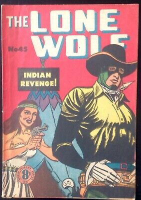 THE LONE WOLF # 45 1950's GOLDEN AGE AUSTRALIAN DRAWN  COMIC