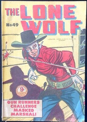THE LONE WOLF # 49 1950's GOLDEN AGE AUSTRALIAN DRAWN  COMIC