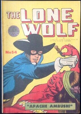 THE LONE WOLF # 54 1950's GOLDEN AGE AUSTRALIAN DRAWN  COMIC