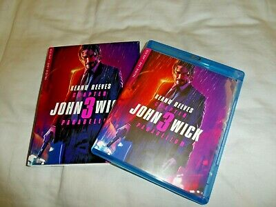 John Wick Chapter 3 Parabellum Blu Ray + DVD (NO DIGITAL INCLUDED) READ!