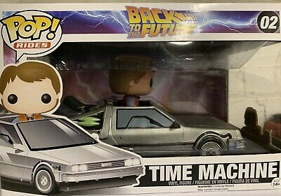 Funko POP Ride #02 Delorean Time Machine with Marty McFly Back to the Future