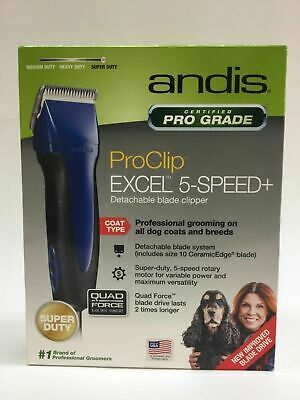 Andis Pro Clip Excel 5-Speed Item #65325  Blue Brand New