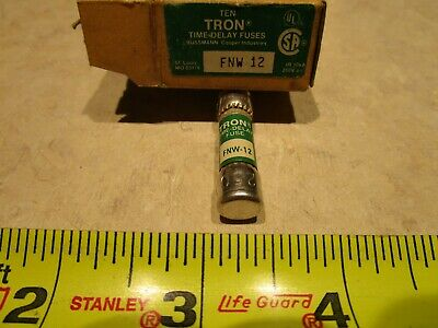 BOX OF 10 Bussmann Tron FNW 12 Amp Fuses 250 Volts