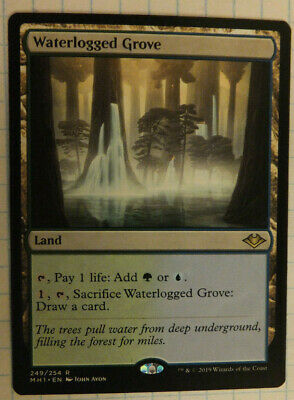 MTG 1x Waterlogged Grove MH1 249/254 NM Rare Modern Horizons