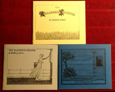 Edward Gorey - Three Books From The Fantod Press III 1st Edition - 1 Signed Book